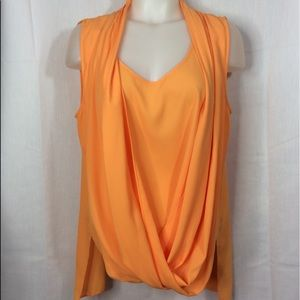 Vince Camuto Orange Sleeves Women's Blouse L